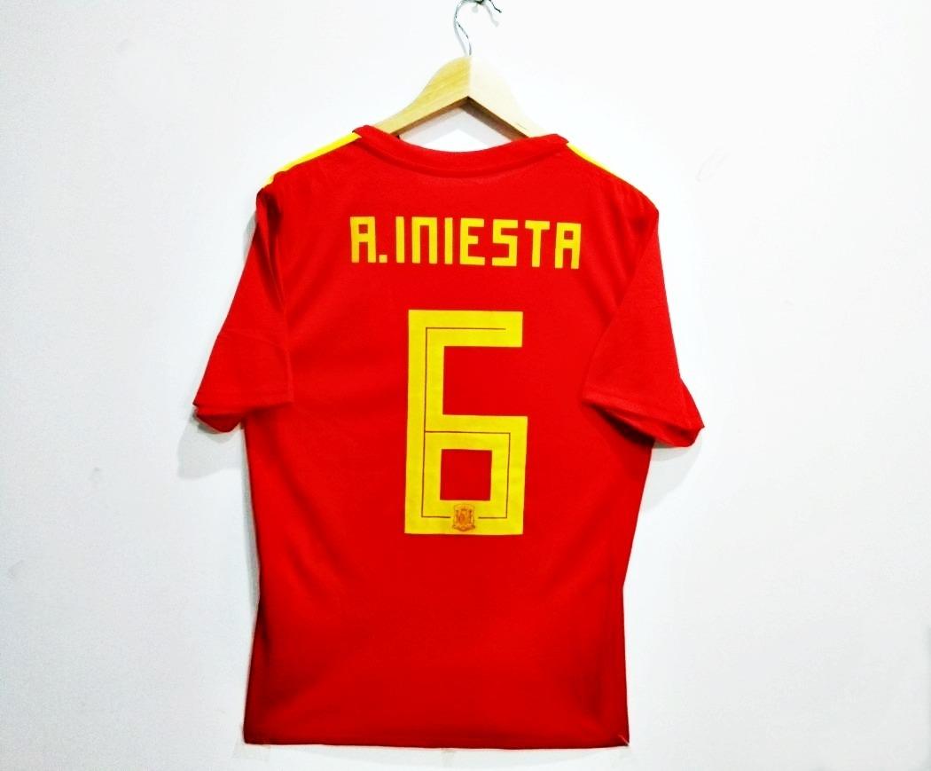 Camiseta De España Iniesta Mundial 2018 -   99.000 en Mercado Libre be150a1f6832c
