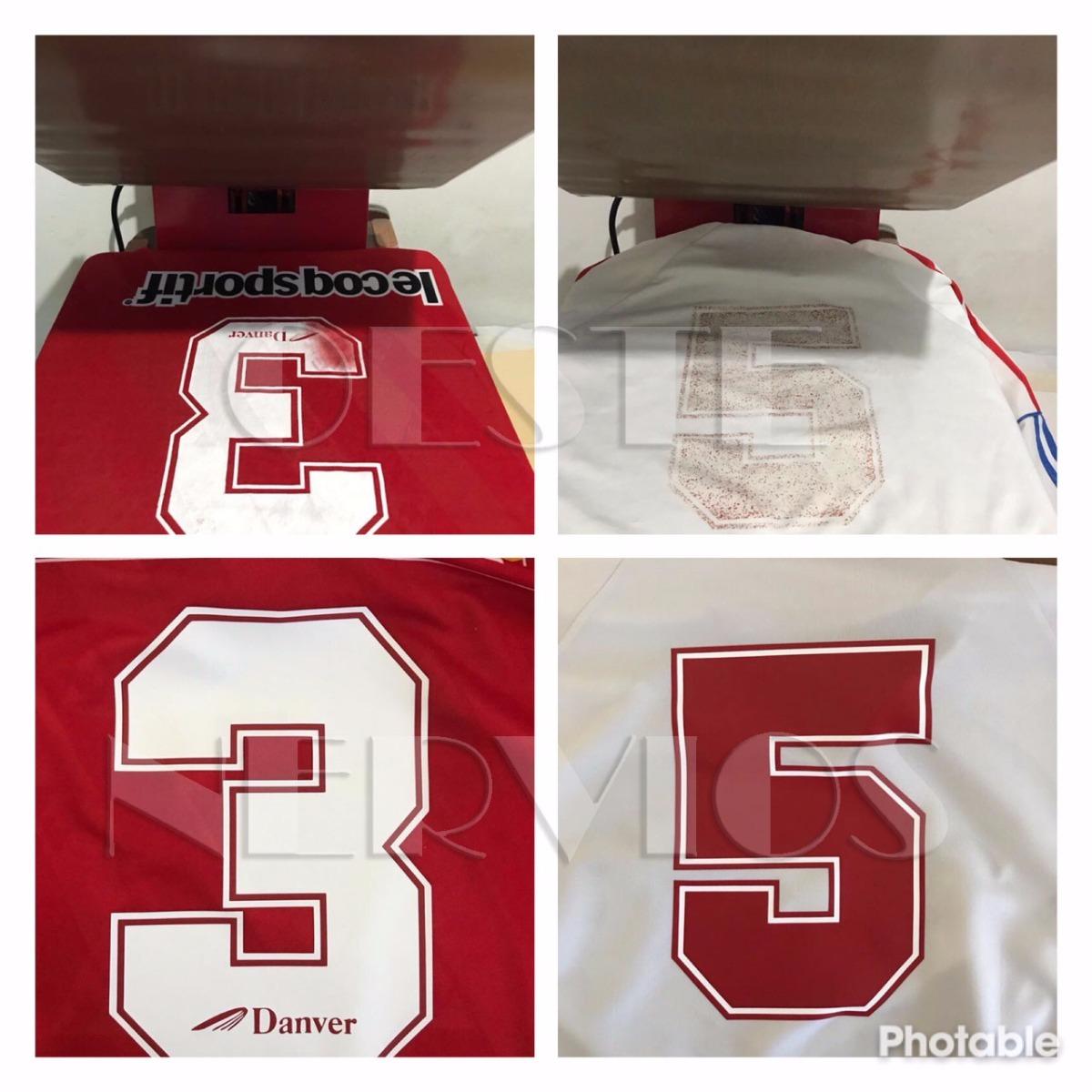 c1896ed50d6ec Camiseta De Futbol - Arreglo De Numeros Y Publicidades -   99