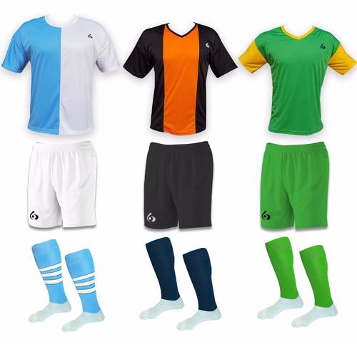 camiseta de futbol combo: camisetas + short + medias