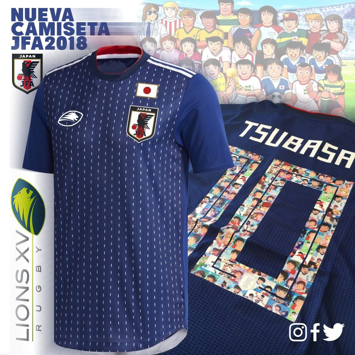 Camiseta De Futbol Supercampeones Adulto Niño Lions Xv -   1.190 9138ad9f0db49