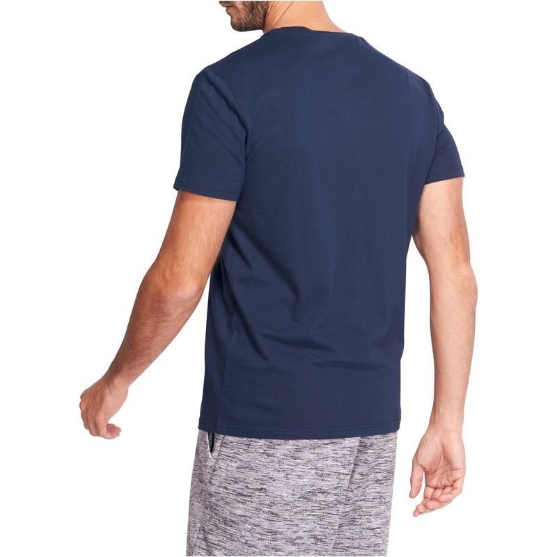 Camiseta Y De Para Gimnasia Marino Azul Sport Pilates Hombre NwO8nm0v