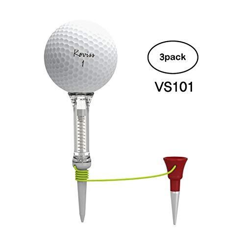 camiseta de golf koviss velocity spring con par 3 tee - long