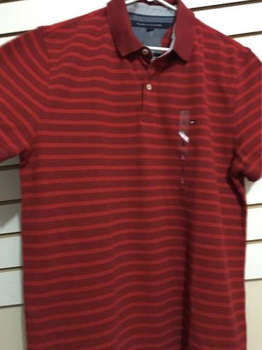 camiseta de hombre tommy hilfiger cuello tipo polo talla l