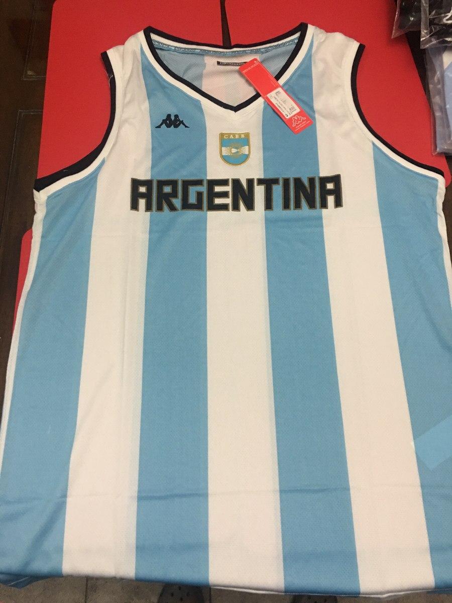 5ee71ae8ee2a5 Camiseta De La Seleccion Argentina De Basquet Mundial 2014 -   400 ...