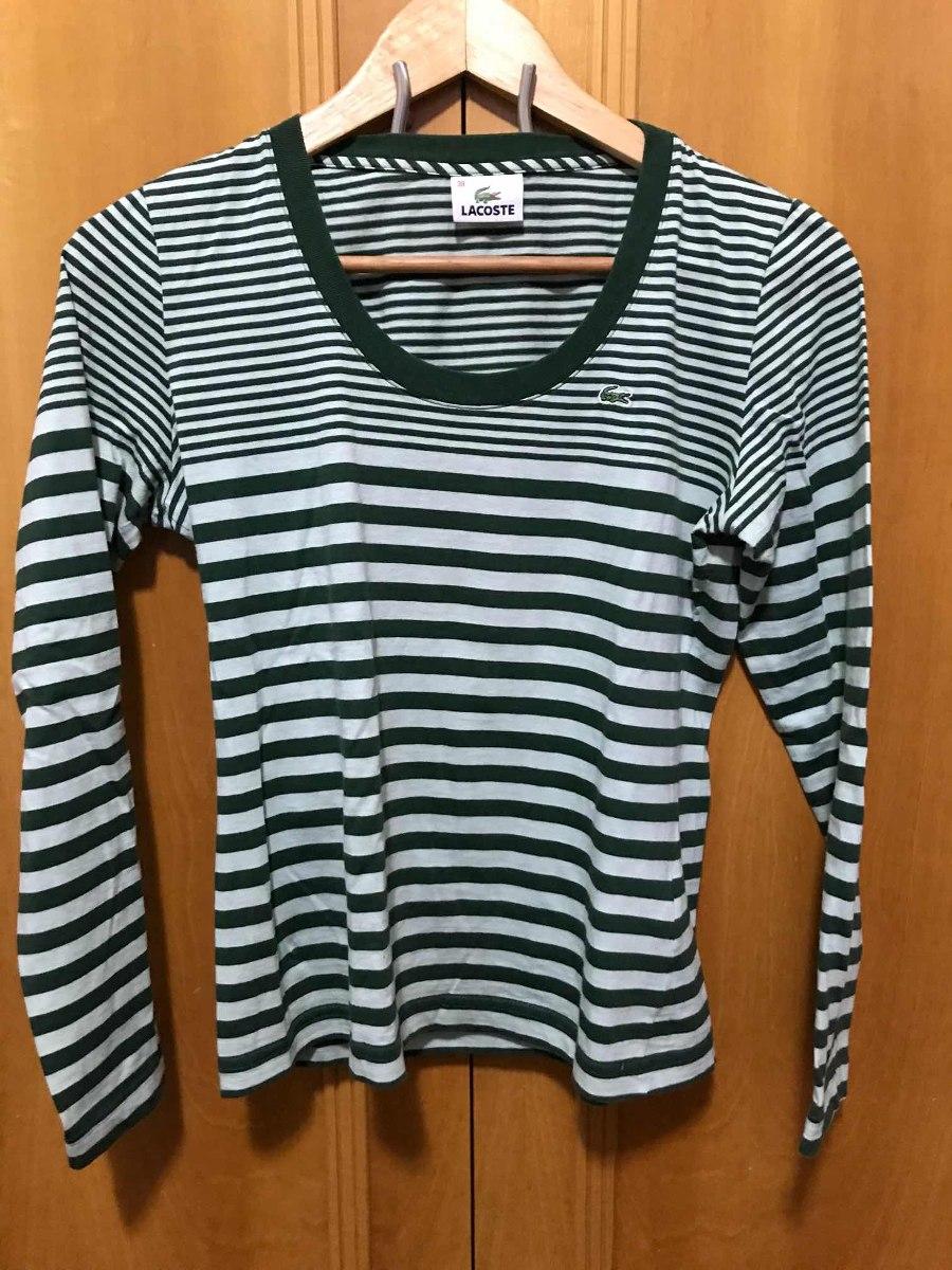 93ba66a0086 camiseta de manga comprida - marca lacoste original - ultima. Carregando  zoom.