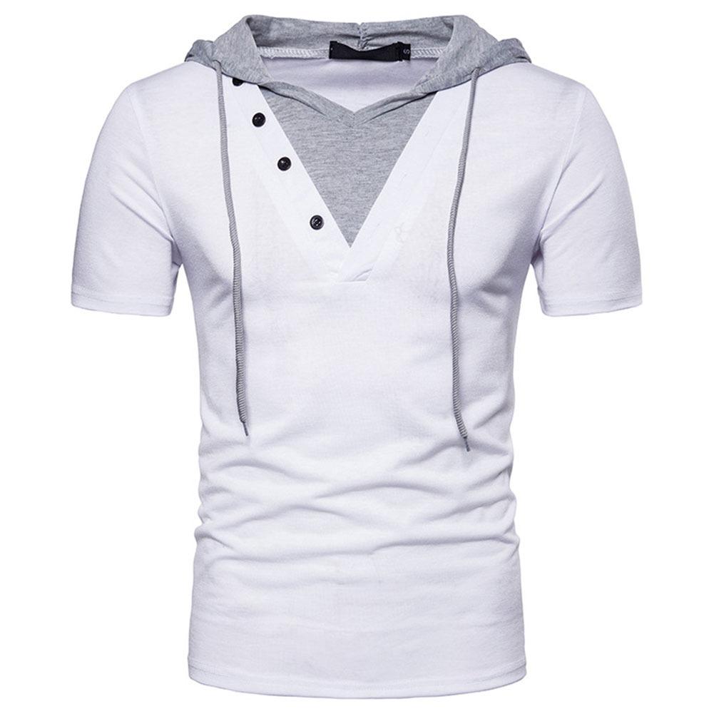 Verano Con Camiseta Capucha Manga Hombre1 Corta 538 Para De J3uKFTcl1
