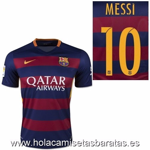 0434004ee99f4 Camiseta De Messi Barcelona 2016 Nuevo - S  295