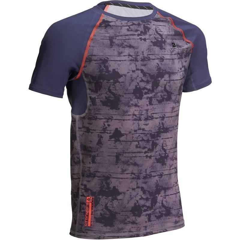 Camiseta De Musculação Compressão Domyos G Azul Marinho - R  119 ed11674e66f