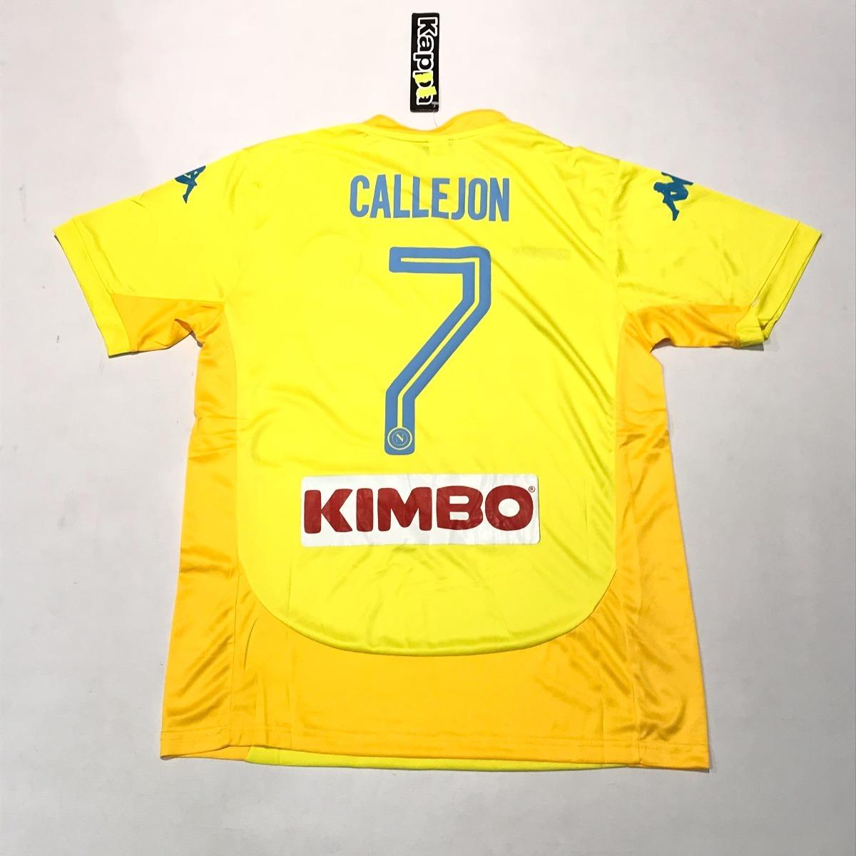camiseta de napoli kappa amarilla talle m  7 callejon. Cargando zoom. ece8a7e3c29c5