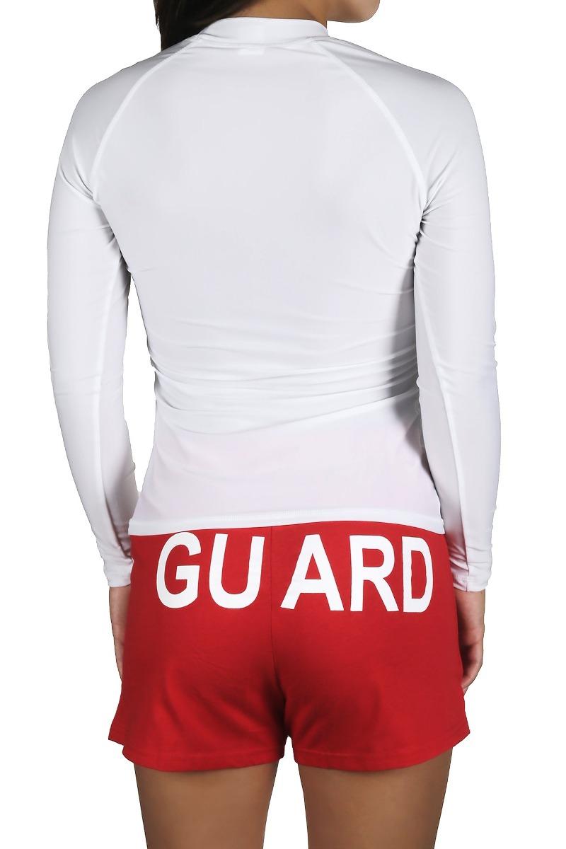 327675bfc4 Camiseta De Natación De Manga Larga Rashguard Salvavidas Par ...