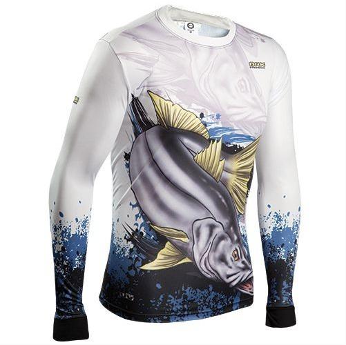Camiseta De Pesca Brk Combat Fish Robalo 2.0 Fps 50+ - R  108 4854fb026b47f