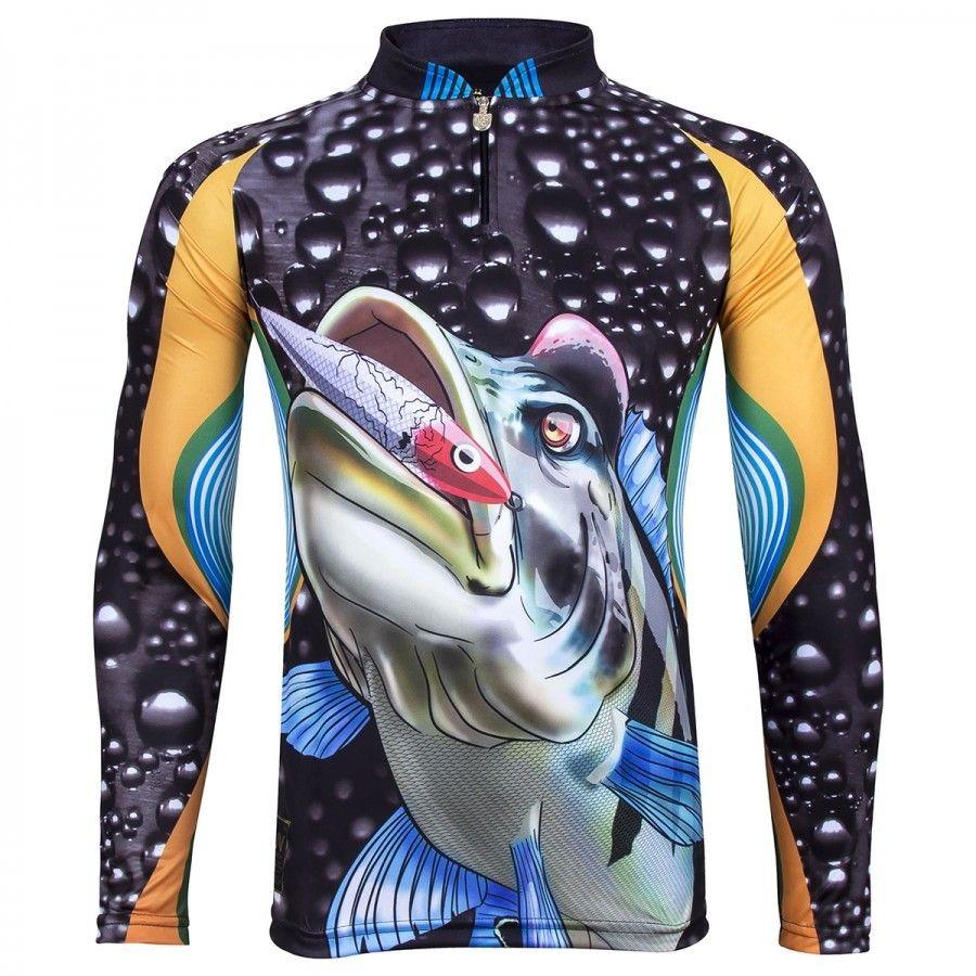 32e1b2b335 camiseta de pesca king proteção solar uv viking 08 tucunaré. Carregando  zoom.