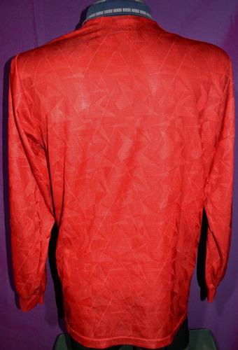 camiseta de selección de inglaterra umbro m/largas, talle xl