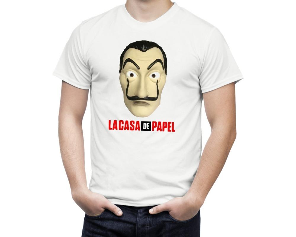 Camiseta De Série La Casa De Papel Máscara Salvador Dalí - R  44 ed567ffc5049d