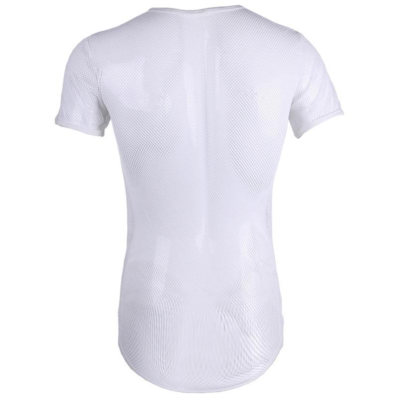 0af6df727457c Camiseta De Tela Transparente Longline Masculina Vcstilo - R  39