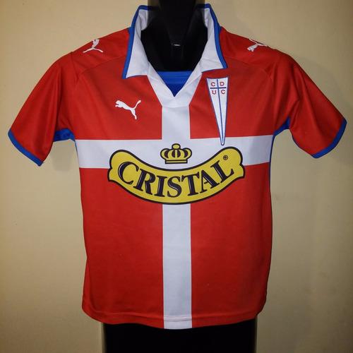 camiseta de universidad catolica 2009, puma, talla 10 niño.