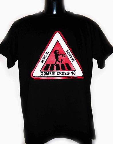 camiseta de zombie crossing walking excelente skpalace