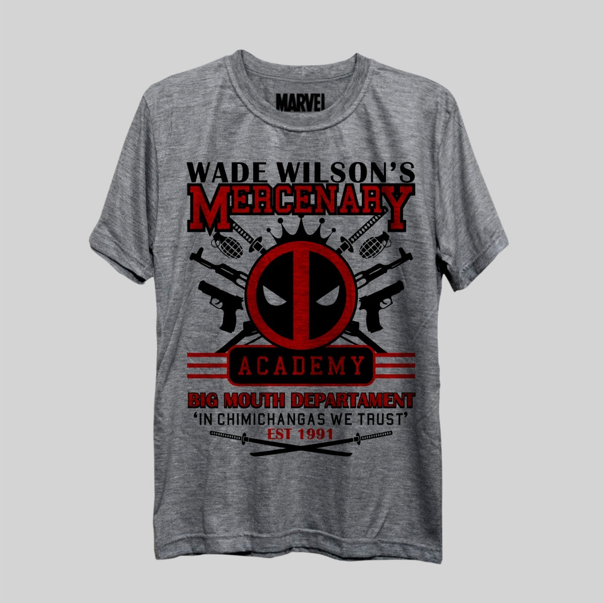 a3655feda camiseta deadpool mercenary academy marvel comics hq freekz. Carregando  zoom.