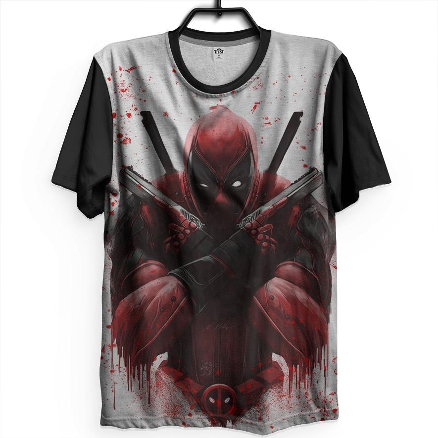 Camiseta Deadpool Nonsense Unissex Game Armas Quarta Parede - R  90 ... 5cb7a220183