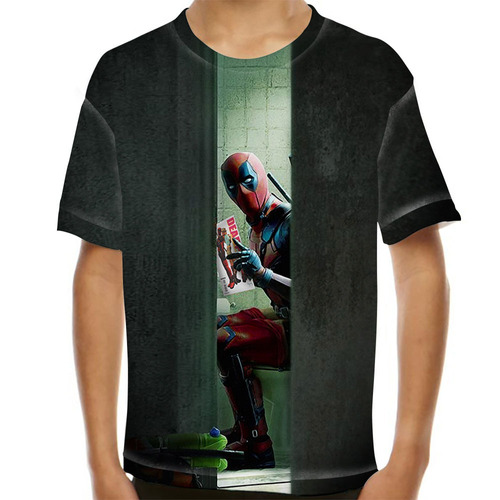 camiseta deadpool shit infantil
