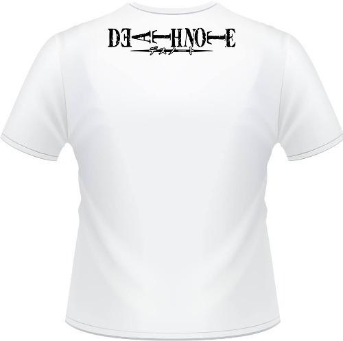 camiseta death note apple kira ryuuku misa caderno l camisa