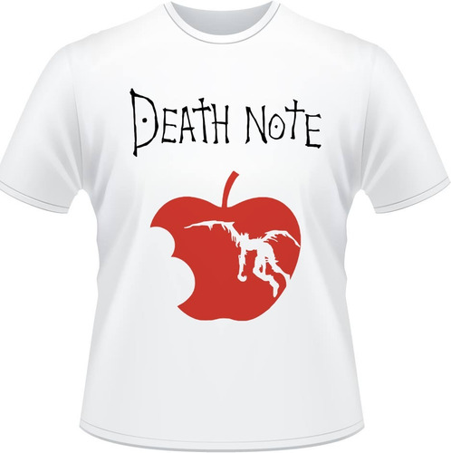 camiseta death note apple kira ryuuku misa caderno l camisa