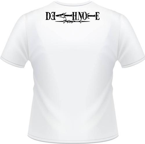 camiseta death note l kira shadow ryuuku misa caderno camisa
