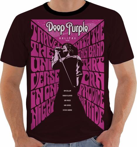 camiseta deep purple - concert poster - canadian tour