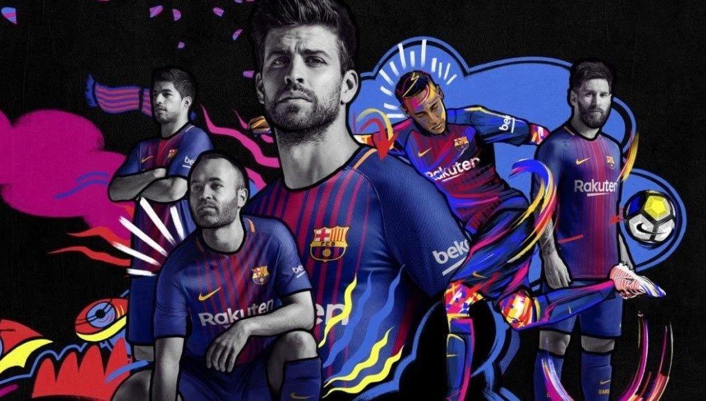 7928658accd3b camiseta del barcelona 2017-2018 local + messi 10. Cargando zoom.