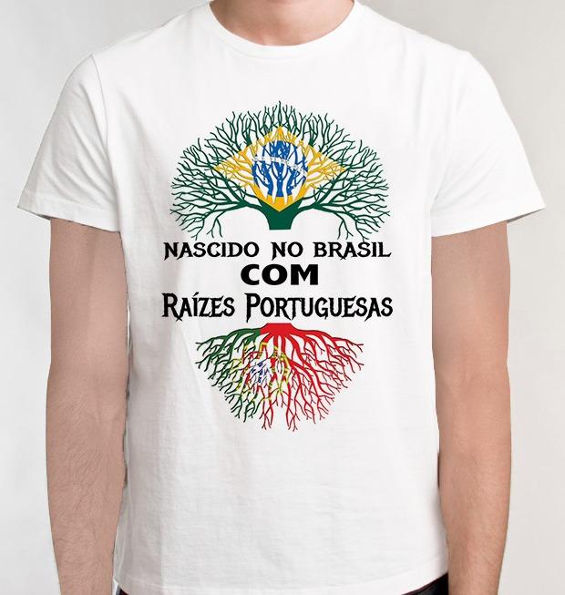 e57e06c3c6 Camiseta Descendente Portugal Raízes Portuguesa Camisa Blusa - R  35 ...