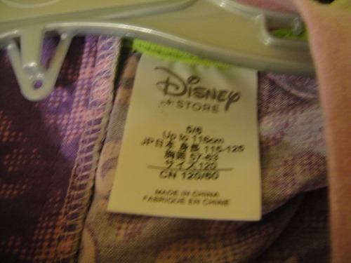 camiseta desendientes nina tienda disney talla 5/6 ( 076 )