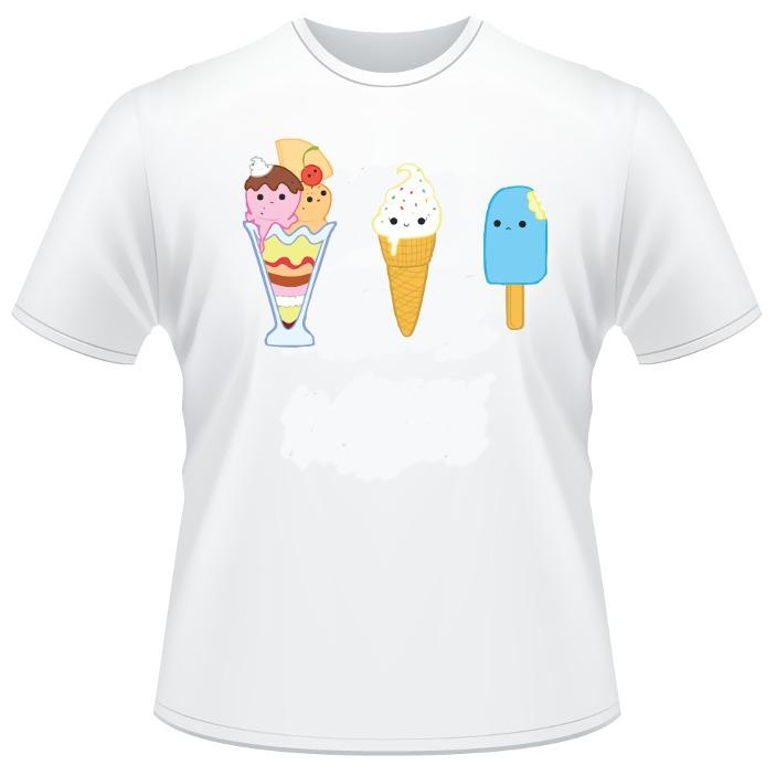 162dad780 Camiseta Desenho Estampa Sorvetes Camisas Engraçadas Legais - R  24 ...