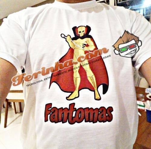 camiseta desenho fantomas