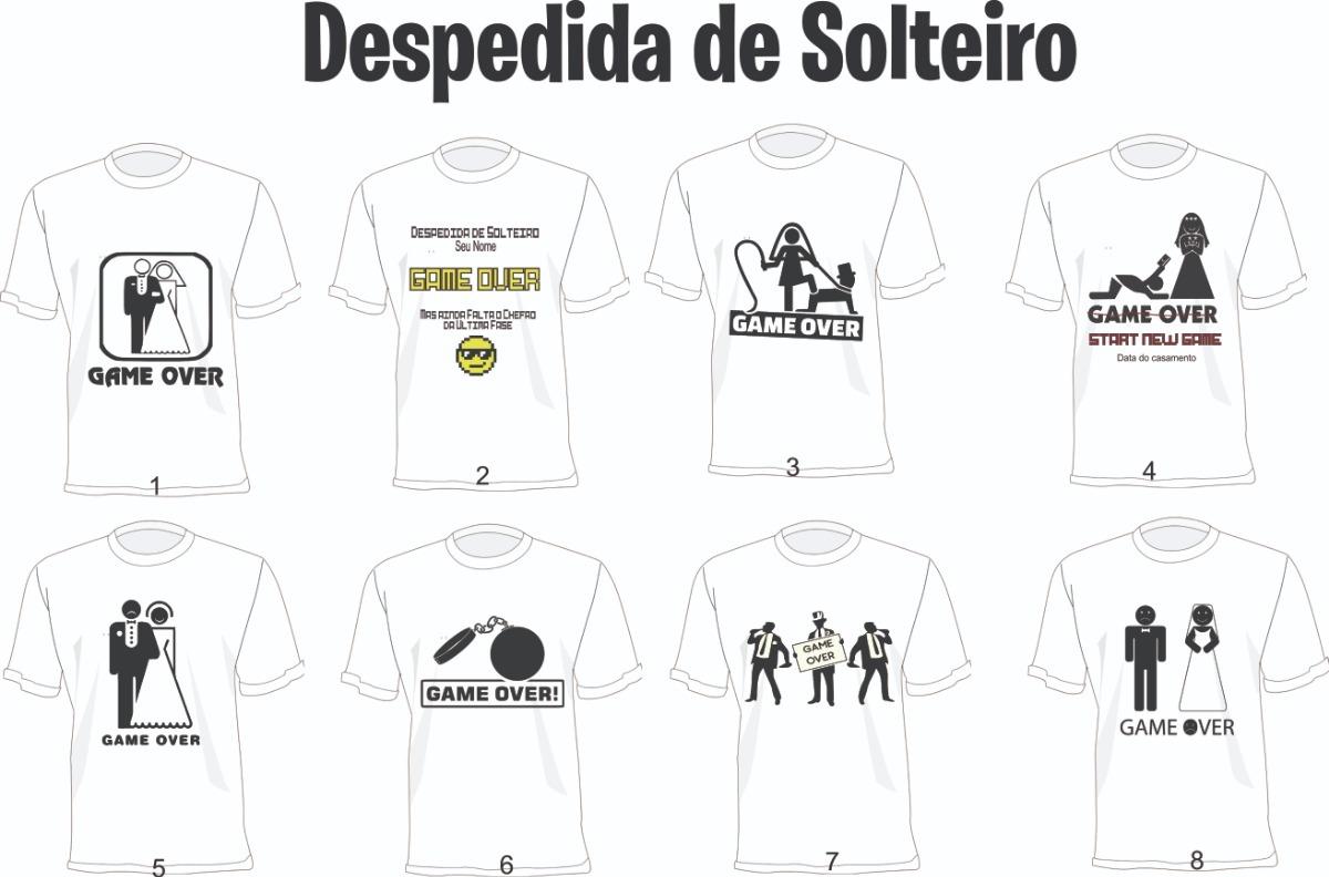 d581edb83 camiseta despedida de solteiro - game over personalizada. Carregando zoom.