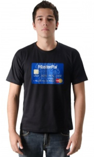 camiseta dia dos pais cartão master pai algodão