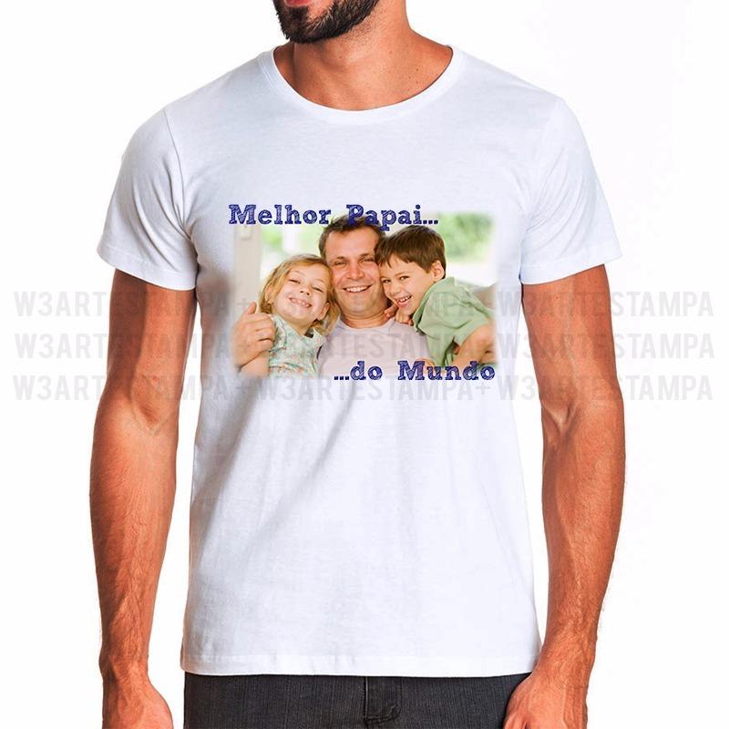 Camiseta Dia Dos Pais Com Sua Foto Personalizada Sua Frase R 35