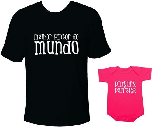 camiseta dia dos pais infantil e adulto