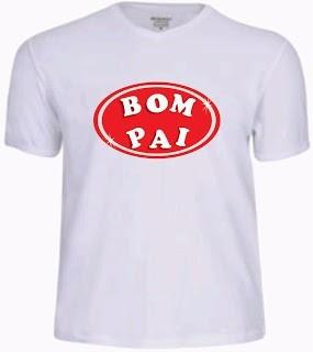 camiseta dia dos pais personalizada