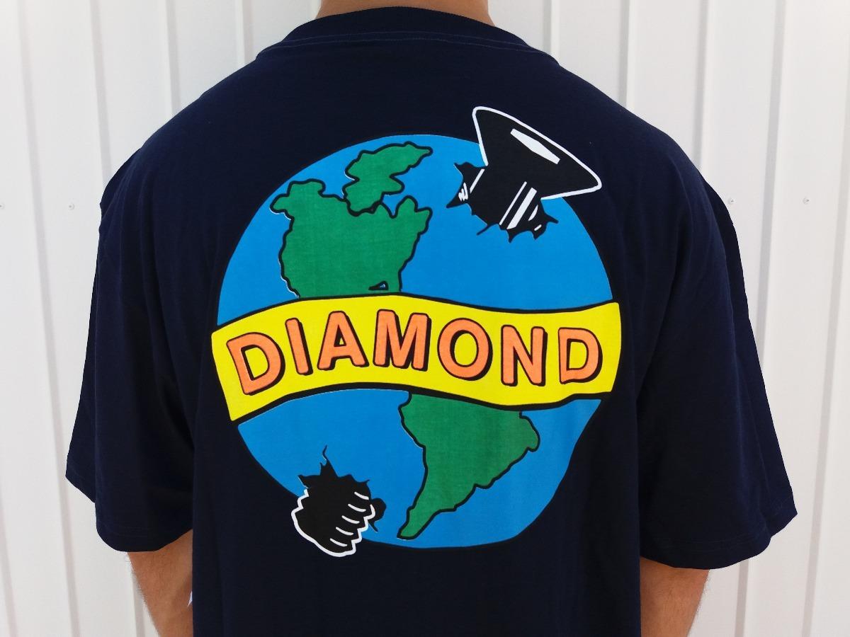 camiseta diamond supply pandemic azul original. Carregando zoom. b475e128c1bf2