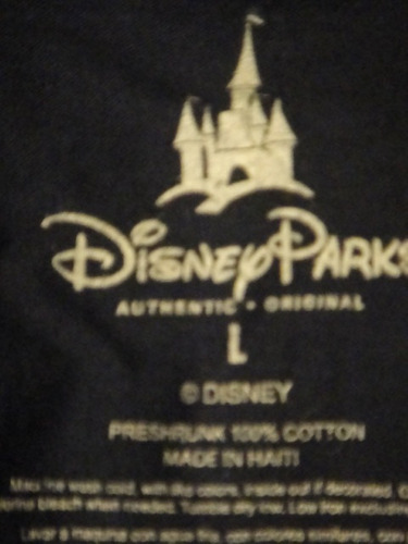 camiseta disneland resort azul large adulto ( 1059 )