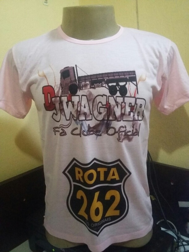 Camiseta Dj Wagner Fã Clube Caminhão Frase Rota 262 Seu Nome R 50