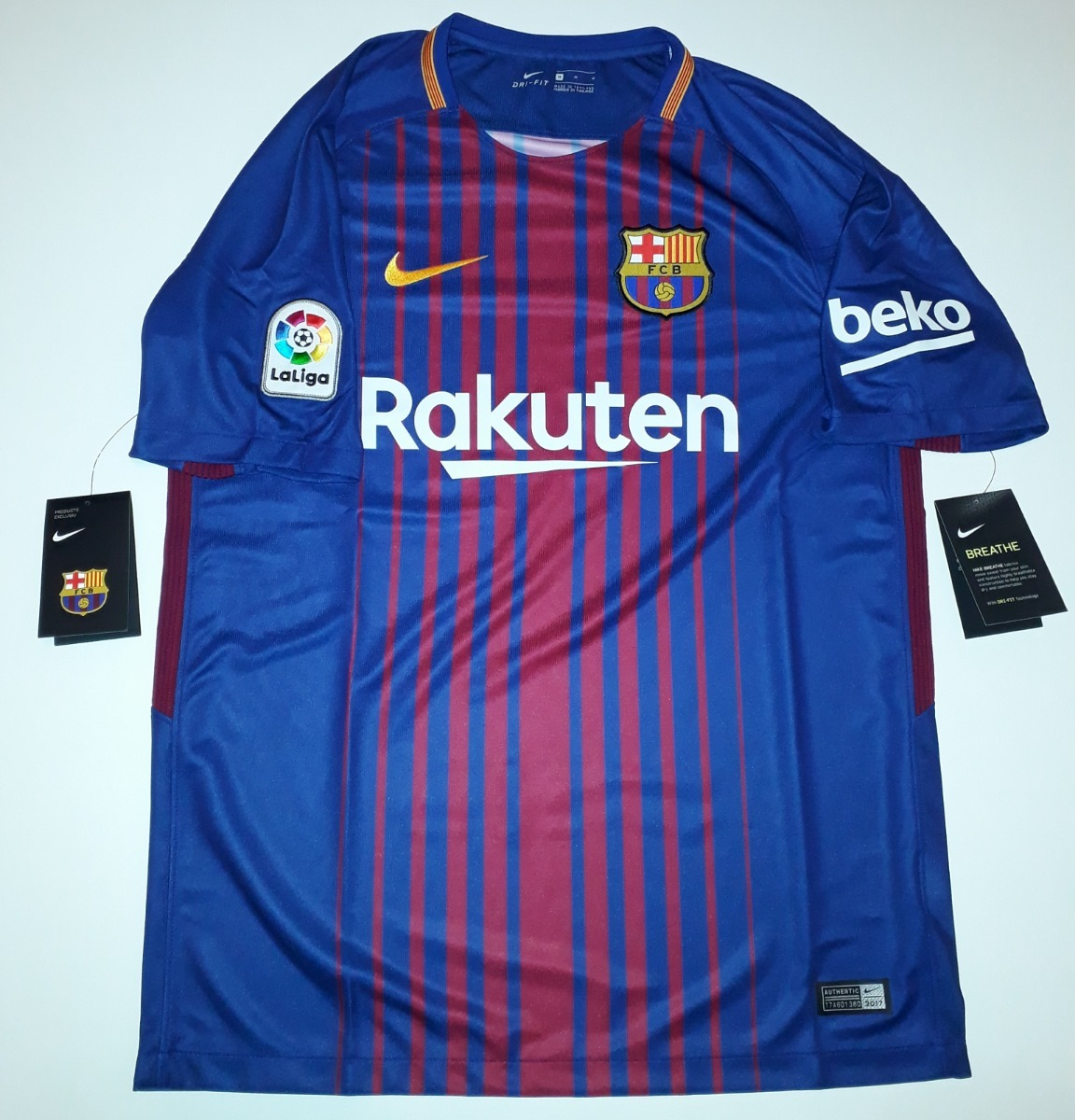 camiseta do barcelona 2018 listrada original 100% nike - 88. Carregando zoom . 78f134c93d5