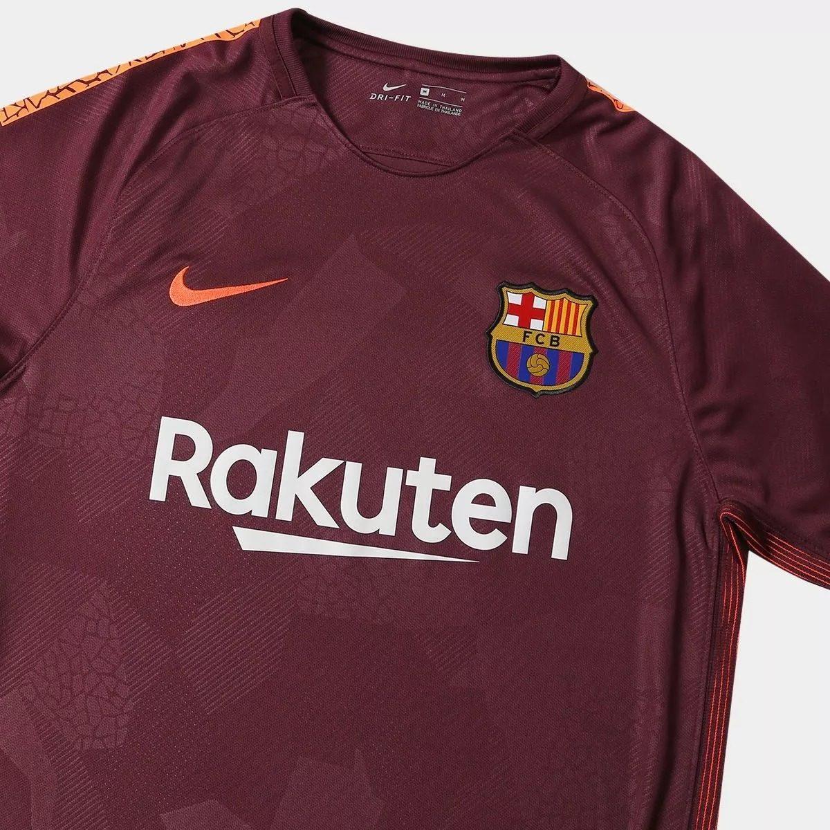69117f98d camiseta do barcelona grená 2017   2018 original nike - 28. Carregando zoom.