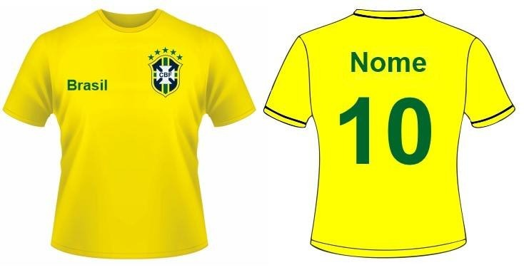 Camiseta Do Brasil Copa Do Mundo Russia 2018 Personalizada - R  39 ... 5aae52a955222