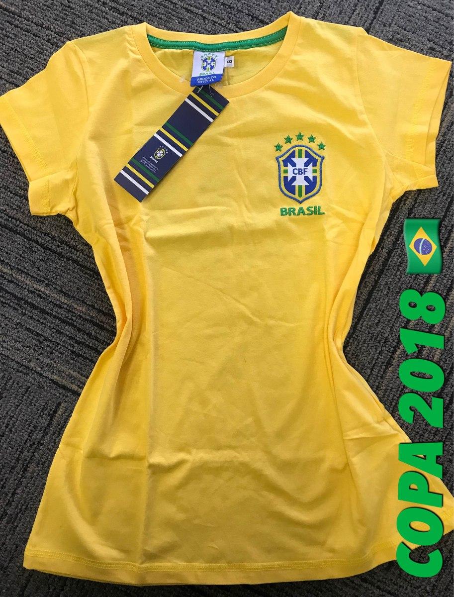 cbe40f63a camiseta do brasil - oficial - feminina - copa 2018. Carregando zoom.