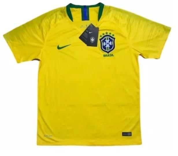 562af4a420 Camiseta Do Brasil Oficial Original 2018 Neymar Jr. Nike - R  110