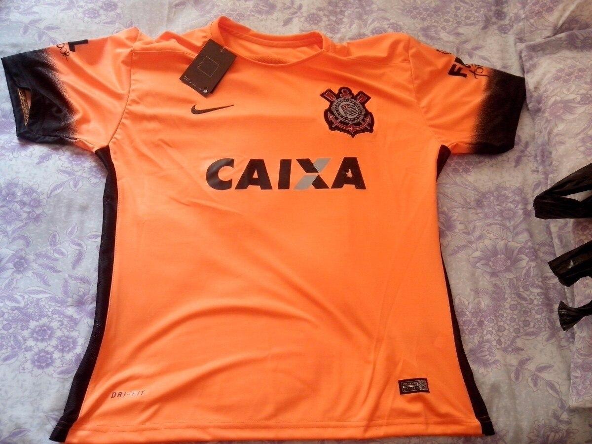 camiseta do corinthians supporter 2015 laranja. Carregando zoom. 79a442e88ae12