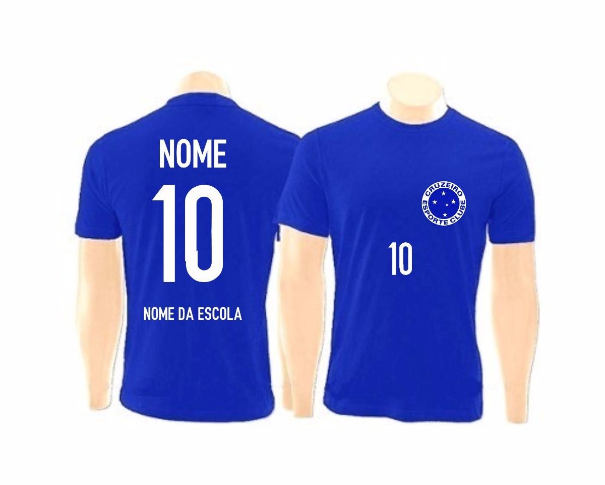 d0a072ae3f camiseta do cruzeiro personalizada para time escolar. Carregando zoom.