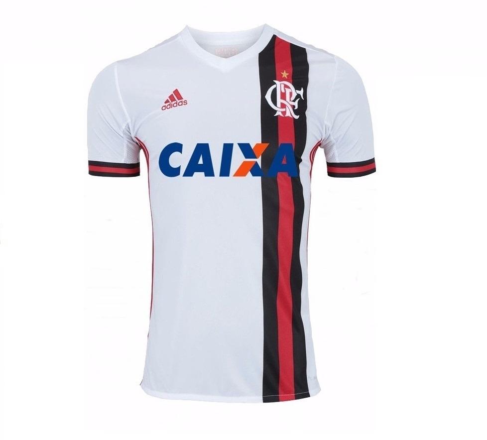 11d2340f99409 Camiseta Do Flamengo Branca - Modelo 2017 E 2018 Uniforme - R  89
