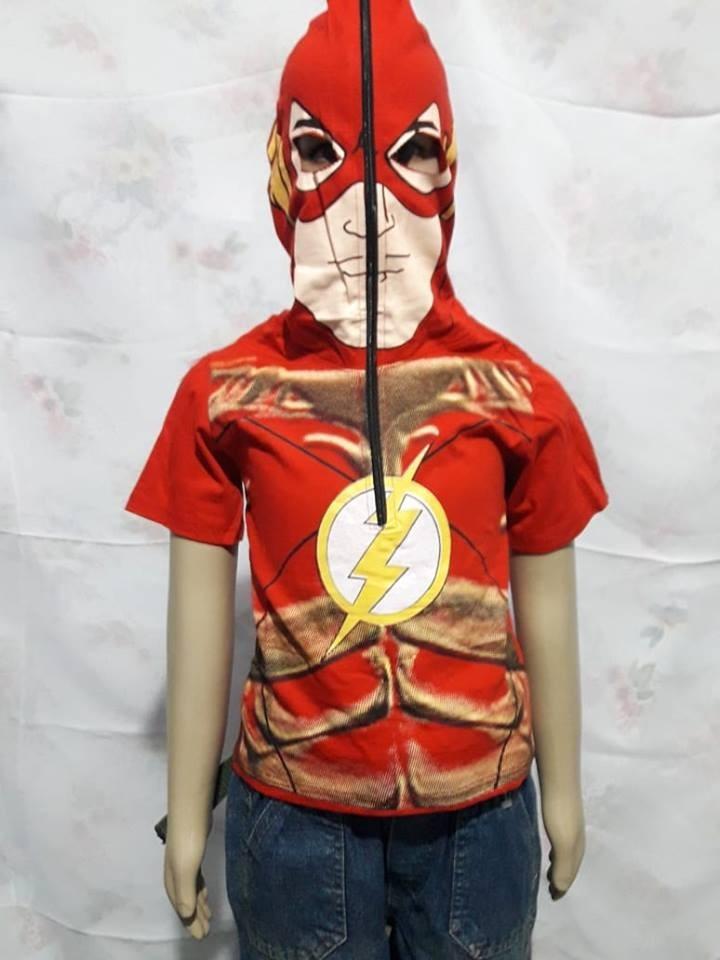 316cc1ebf camiseta do flash com capuz que vira mascara. Carregando zoom.